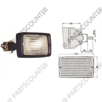 Arbeitsscheinwerfer Gummigehäuse Quermontage 12-24V