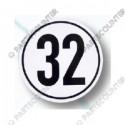 Geschwindigkeitsschild 32, Folie