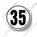 Geschwindigkeitsschild 35, Folie