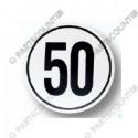 Geschwindigkeitsschild 50, Folie