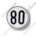 Geschwindigkeitsschild 80, Folie