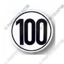Geschwindigkeitsschild 100, Folie