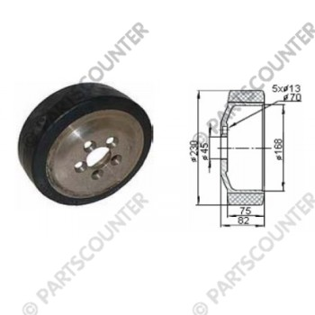 Antriebsrad GU Durchmesser 230 mm