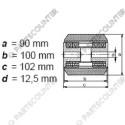 Laufrolle PU Durchmesser 90 mm
