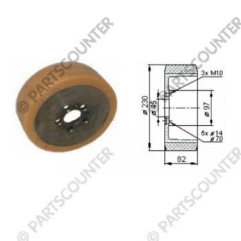 Antriebsrad VU Durchmesser 230 mm