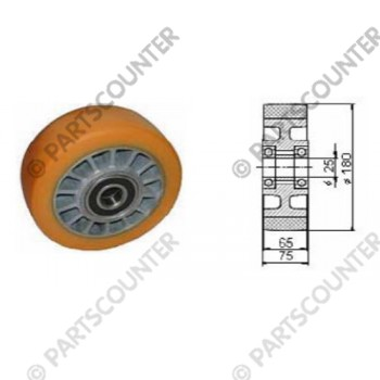 Lastenrad PU Durchmesser 180 mm