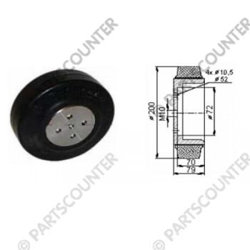 Antriebsrad GU Durchmesser 200 mm