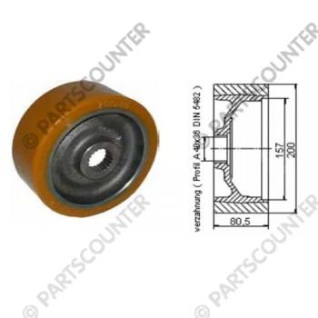Antriebsrad PU Durchmesser 200 mm