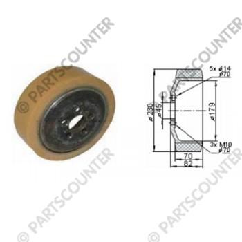 Antriebsrad PU/Quarz Durchmesser 230 mm