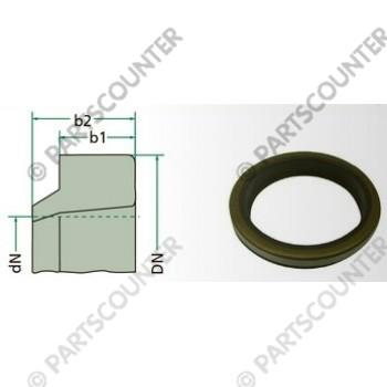 Abstreifer mit Metallring 45-55