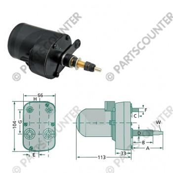 Wischermotor 110gr 61-46mm