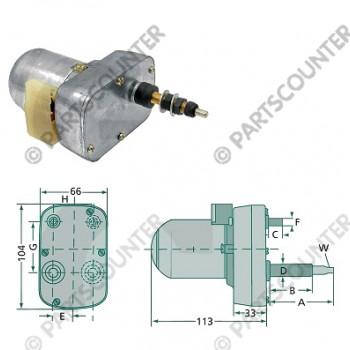 Wischermotor 135gr 65-50mm