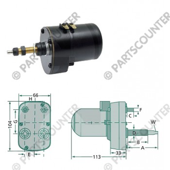 Wischermotor 135gr 60-45mm